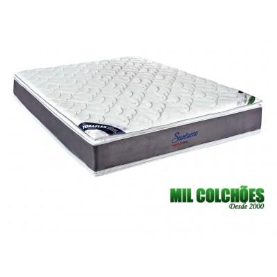 Colchão Toraflex Casal Suntuoso 138x188x25 Molas Ensacadas Pocket Tecido Bambu Pillow Top